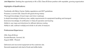 Commercial Truck Driver Resume Sample by Limo Driver Cover Letter