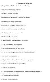 modal verbs worksheets worksheets