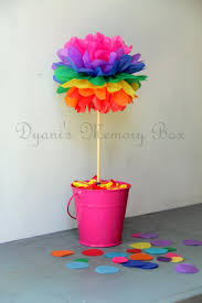 tissue paper flowers centerpieces image collections flower