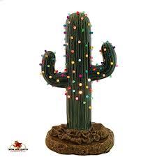 saguaro cactus ceramic tree 12 inches with color