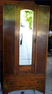 Mirror Armoire Wardrobe Bedroom Wonderful Mirrored Armoire Wardrobe Oak Gentleman U0027s