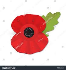 remembrance poppy poppy appeal modern paper stock vector 717202150