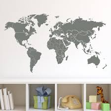 13 wall decal map of the world map decals map wall decal world wall decal map of the world