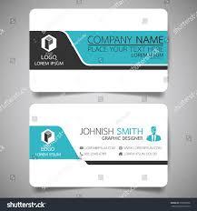 blue modern creative business card name stock vector 579099208