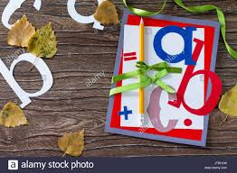 greeting card with a pencil and letters for the new year