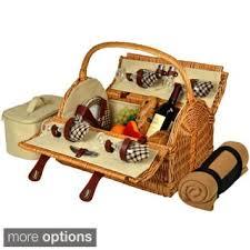 picnic basket set for 4 picnic baskets shop the best deals for nov 2017 overstock