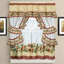 Sunflower Kitchen Curtains Sunflower Curtains For Kitchen 100 Images Embroidered