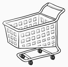 Shopping Cart Coloring Page shopping cart printable image illustration sketch for shopping cart
