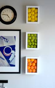 wall art ideas for kitchen colorful kitchen wall art with fake fruits