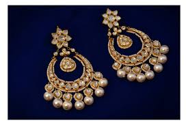 chandbali earrings kundan chandbali earrings boutiquedesignerjewellery