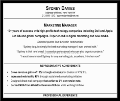Resume Samples Professional Summary by Resume Of Experienced Marketing Professional