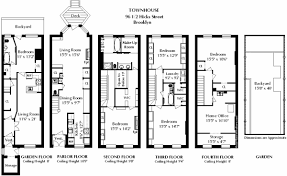 cheap brownstone row house floor plans by concept stair railings