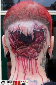 bloody unicorn tattoo on ribs for men photos pictures and