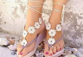 wedding barefoot sandals 2018 wedding black white crochet wedding barefoot sandals