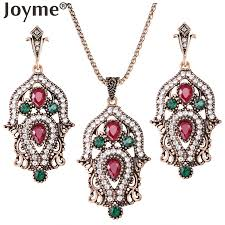 vintage necklace sets images New luxury imitation vintage jewelry sets for women bridal wedding jpg