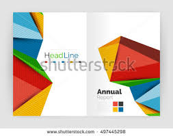 3d low poly shapes design business stock vector 497445298