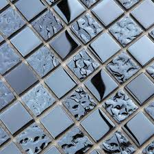 Metallic Tile Backsplash by Metallic Mosaic Tile Mirror Brushed Black Kitchen Backsplash