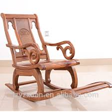 Wood Rocking Chair Authentic African Rosewood Entertainment Furniture Wooden Rocking