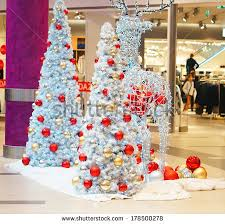 collage holiday objects on christmas table stock photo 89697865