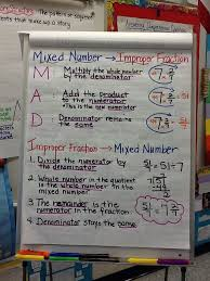 changing improper fractions to mixed numbers improper fractions