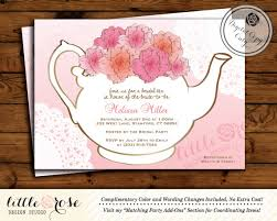 tea party bridal shower invitations awesome bridal shower invitations for a tea party ideas wedding
