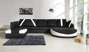 canapé d angle noir et blanc pas cher canapé d angle cuir pas cher zelfaanhetwerk