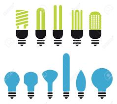 Led Light Bulbs Savings by Set Of Green An No Saving Bulbs Silhouettes Royalty Free Cliparts