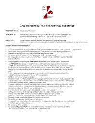 Beauty Therapist Resume Template Respiratory Therapist Resume Objective Examples Resume For Your