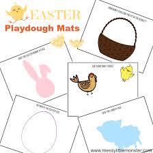 printable playdough recipes printable easter playdough mats free play dough activity messy