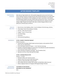 Acting Resume For Beginner Actor Actress Resume Samples And Template Onlineresumebuilders