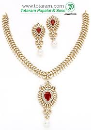 color stone necklace images 18k gold diamond necklace earrings set with color stones jpg