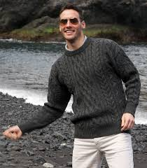 aran sweater in british wool for men and women things for the