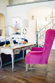 Pink Living Room Chair Office Space Of The Day Rach Parcell Pink The Decorista