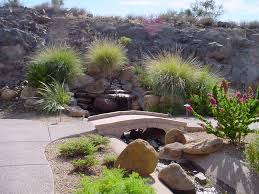 Arizona Living Backyard Waterfalls In Phoenix Water Features - Desert backyard designs