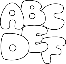 abcdef letter coloring page wecoloringpage