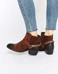 hudson womens boots sale h by hudson ayelen brown suede ankle boots in brown lyst