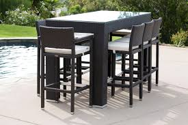 Patio Bar Table Mesmerizing Outdoor Bar Table And Stools Home And Interior Home