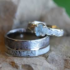 the cartel wedding band unique wedding ring set meteorite engagement ring and wedding