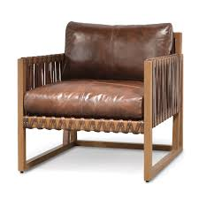 Leather Club Chair Leather And Wood Strap Club Chair Mecox Gardens