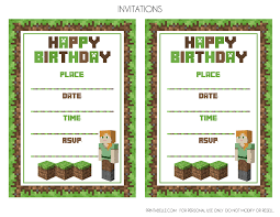 minecraft birthday invitations minecraft birthday invitations minecraft birthday invitations etsy