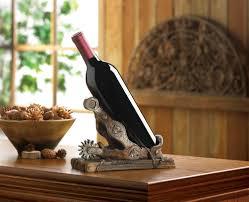 new spur wine bottle holder tabletop brown resin rustic western new spur wine bottle holder tabletop brown resin rustic western decor cowboy bar smartliving