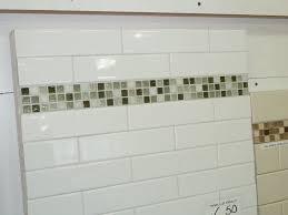 Glass Subway Tile Bathroom Ideas White Subway Tile Shower Light Gray Grout Tikspor