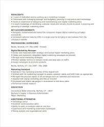 Market Research Resume Samples by Marketing Resume Marketing Director Resume Director Of