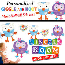 Giggle And Hoot Decorations Giggle And Hoot Hootabelle Movable Wall Stickers