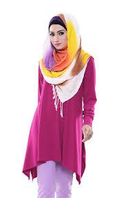 gaun muslim model busana muslim atasan yang modis nibinebu