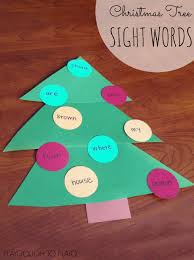 sight word christmas tree game playdough to plato