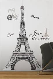 Eiffel Tower Garden Decor Romantic Eiffel Tower Paris Love Flower Wall Sticker Room Decor