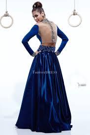 sleeve royal blue taffeta floor length fancy prom dress