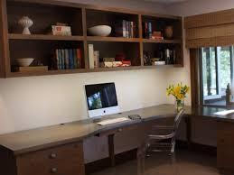 office storage interior long brown wooden corner desk with