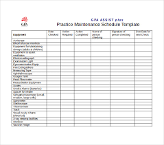 maintenance checklist template gas forms gas service